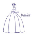 bridal wear logo wedding gown boutique vector image vector image