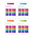 business and personal planner vector image