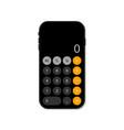 calculator in smartphone app for calculate vector image