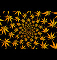 cannabis plant background vector image vector image
