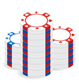Casino chip pile vector image vector image