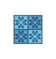 ceramic wall tile concept blue modern icon vector image