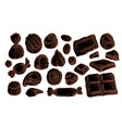 chocolate candy set hand drawn sketch vector image
