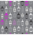 Christmas seamless pattern with lanterns vector image vector image