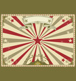 circus vintage horizontal poster vector image