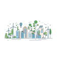 cityscape with environmentally friendly technology vector image vector image