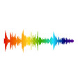 color audio wave music sound recording digital vector image vector image