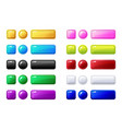 colored buttons big set for game or web design vector image