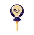 colored sweets lollipop hard candy scull vector image vector image