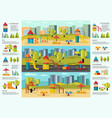 colorful playground infographic concept vector image vector image
