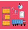 Container truck concept vector image