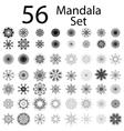 Contour Mandala Isolated vector image