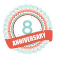 Cute Template 8 Years Anniversary with Balloons vector image vector image