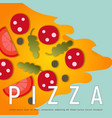 design of pizza box vector image vector image