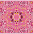 doodle indian floral paisley medallion pattern vector image