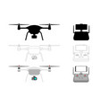 drone - isolated on white vector image vector image