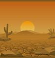 dry desert vector image