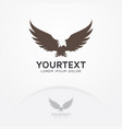 eagle fly logo vector image