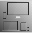 electronic devices screens isolated on white vector image vector image