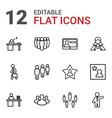 employee icons vector image vector image