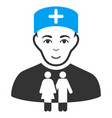 family doctor flat icon vector image vector image