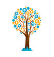 family tree concept with people group icons vector image vector image