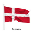 flag kingdom denmark vector image vector image