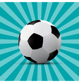 Football Ball on Blue Retro Background vector image vector image