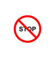 forbidden stop icon can be used for web logo vector image vector image