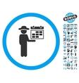Gentleman Schedule Flat Icon With Bonus vector image vector image
