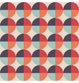 Geometric abstract seamless pattern with circle vector image vector image