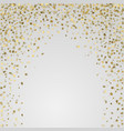 gold 3d stars on white background vector image vector image