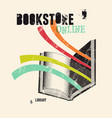 grunge poster for a bookstore or library vector image