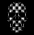 Halftone dot skull vector image vector image