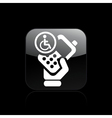 handicap phone icon vector image vector image