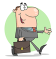 Happy Businessman Walking vector image vector image