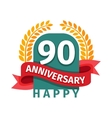 Happy ninetieth birthday badge icon vector image vector image