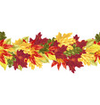 horizontal seamless line with autumn leaves vector image