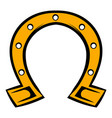 horseshoe icon icon cartoon vector image