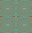 Hypnotic pattern bright vector image vector image