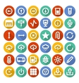 Icons set with long shadow vector image vector image