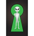 keyhole alien vector image vector image
