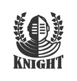 knight emblem template with medieval vector image vector image