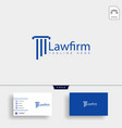 law firm advocate creative logo template with vector image vector image