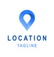 location icon template business logo design with vector image vector image