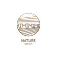logo nature elements in linear style vector image vector image