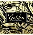 Luxury golden modern card vector image vector image