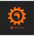 Orange plumbing logo vector image
