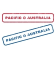 Pacific Australia Rubber Stamps vector image vector image