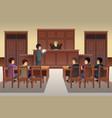 people in court scene vector image vector image